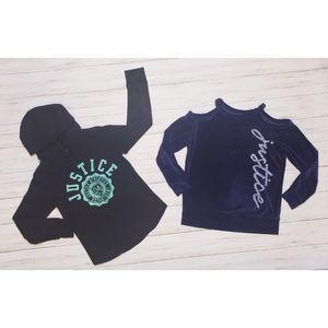🎀BUNDLE🎀 Girls Long Sleeved Shirts- Size 7/8